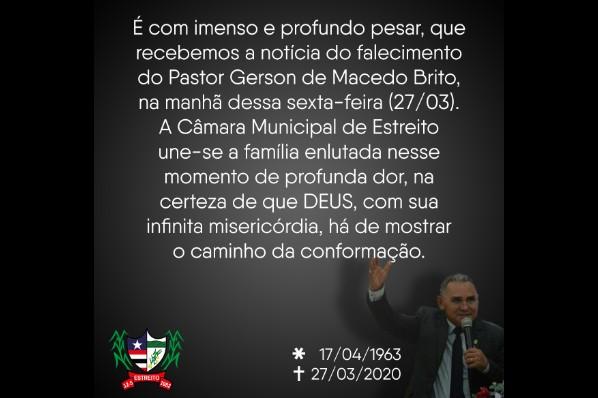 NOTA DE PESAR: